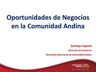 Oportunidades de Negocios en la Comunidad Andina