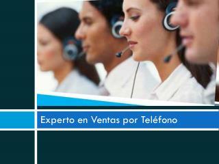 Experto en Ventas por Teléfono