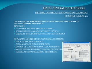 EMTEC CENTRALES TELEFONICAS