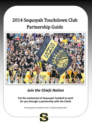 2014 Sequoyah Touchdown Club Partnership Guide