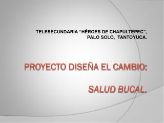 PROYECTO DISEÑA EL CAMBIO : SALUD  BUCAL.