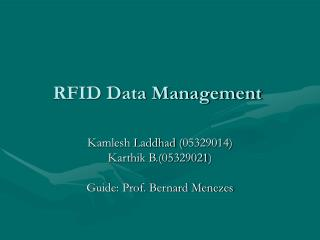 RFID Data Management