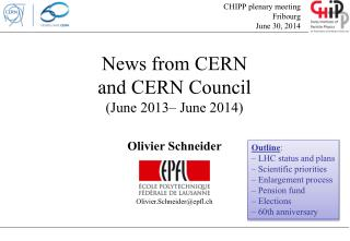 News  from  CERN and CERN Council ( June  2013–  June  2014)