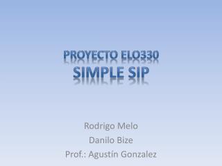 Proyecto elo330 Simple SIP