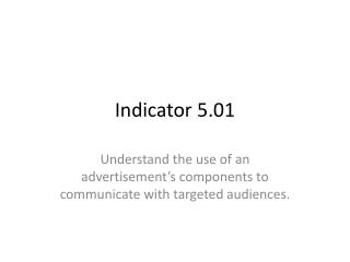 Indicator 5.01