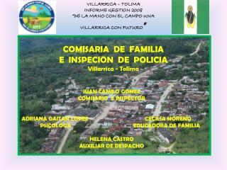 COMISARIA  DE  FAMILIA  E  INSPECION  DE  POLICIA Villarrica - Tolima