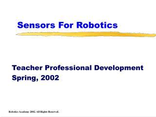 Sensors For Robotics
