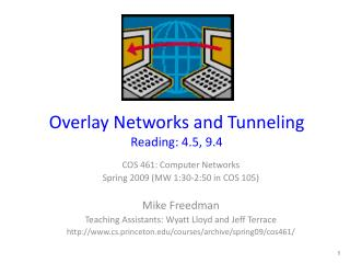 Overlay Networks and Tunneling Reading: 4.5, 9.4