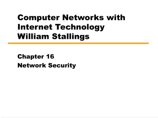 Chapter 16: Computer Network Security Protocols and Standards