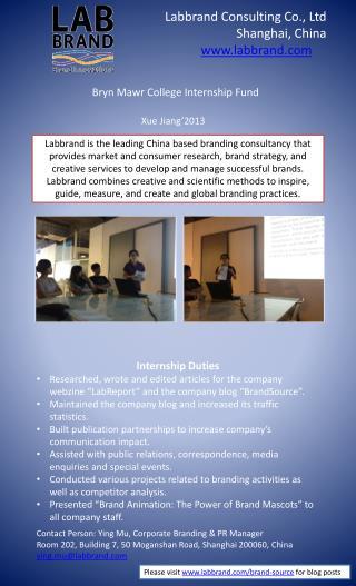 Bryn  Mawr  College Internship Fund