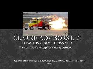 CLARKE ADVISORS LLC