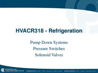 HVACR318  - Refrigeration