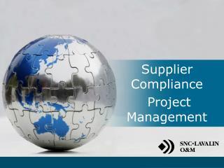 Supplier  Compliance  Project Management