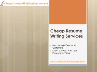 Cheap resume service
