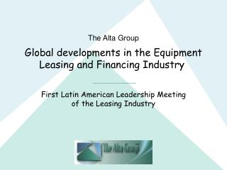 Global developments in the Equipment Leasing and Financing Industry