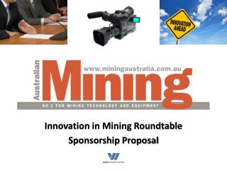 Innovation in Mining Roundtable Sponsorship Proposal