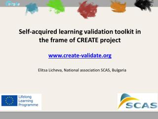 Self-acquired learning validation toolkit in the frame of CREATE project create-validate