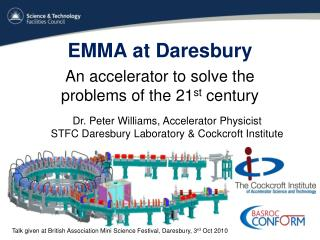 EMMA at Daresbury