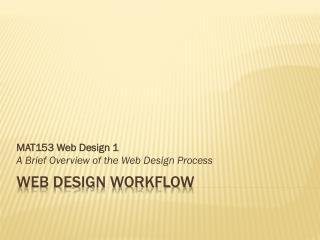 Web Design Workflow