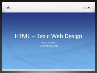 HTML – Basic Web Design