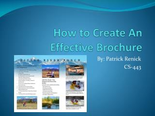 How to Create An Effective Brochure