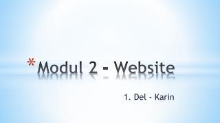 Modul  2 - Website