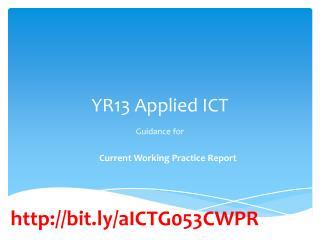 YR13 Applied ICT
