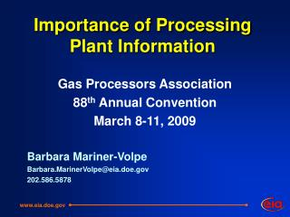 Importance of Processing Plant Information