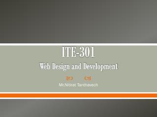 ITE-301 Web Design and Development