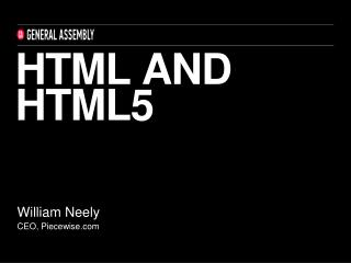 HTML and html5