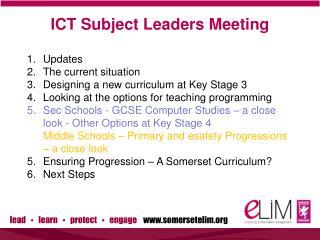 ICT Subject Leaders Meeting