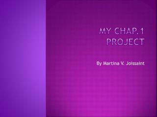 My chap.1 project