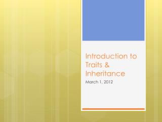 Introduction to Traits & Inheritance
