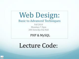Web Design:
