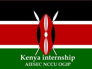 Kenya internship AIESEC NCCU OGIP