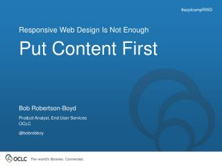 Put Content First