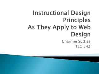 Instructional Design Principles As They Apply to Web Design