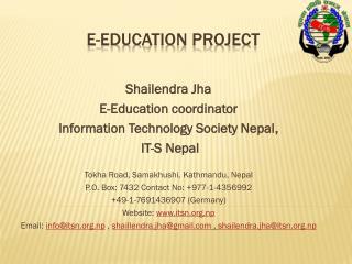 E-EDUCATION PROJECT