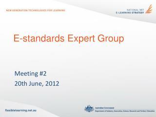 E-standards Expert Group