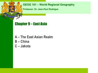 Chapter 9   East Asia