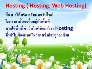 Hosting  ( Hosting, Web Hosting )