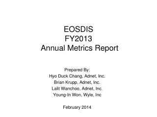 EOSDIS  FY2013  Annual Metrics Report