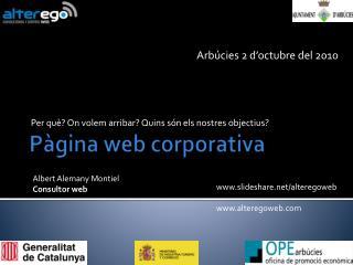 P�gina  web corporativa