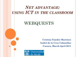 Net  advantage :  using  ICT in  the classroom