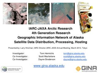 IARC-JAXA Arctic Research   4th Generation Research Geographic Information Network of Alaska