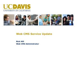 Web CMS Service Update