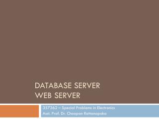Database Server Web server