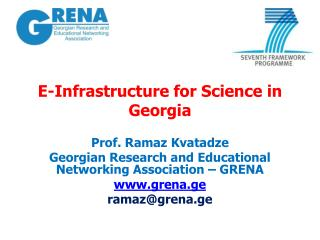E-Infrastructure for Science in Georgia