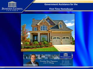 Government Assistance for the First-Time Homebuyer