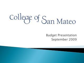 Budget Presentation September 2009